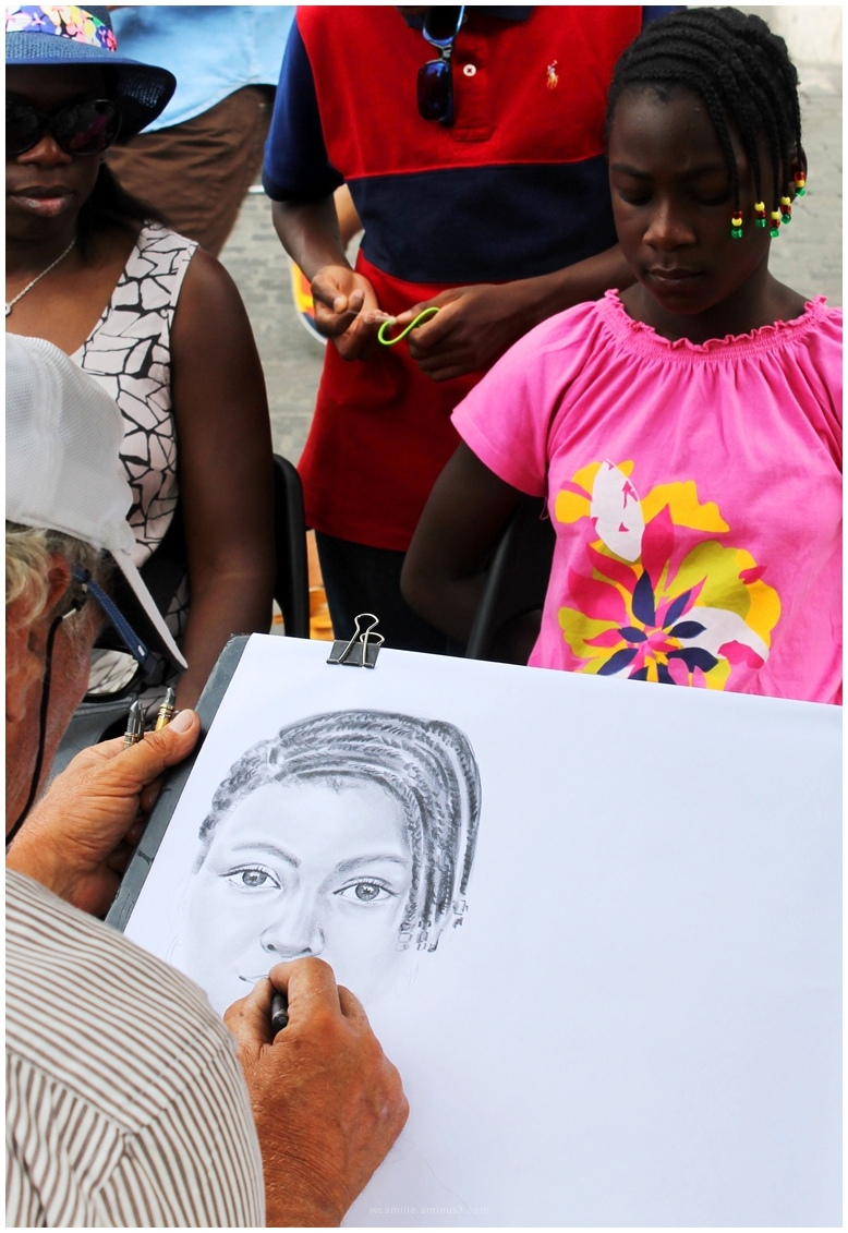rome artist, street, girl,