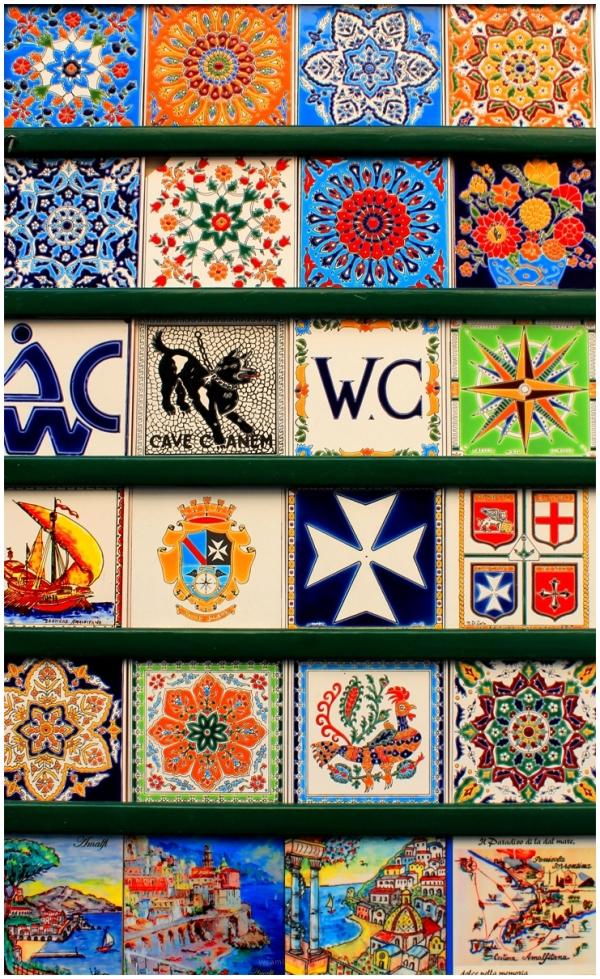 Amalfi, tile mosaic, italy