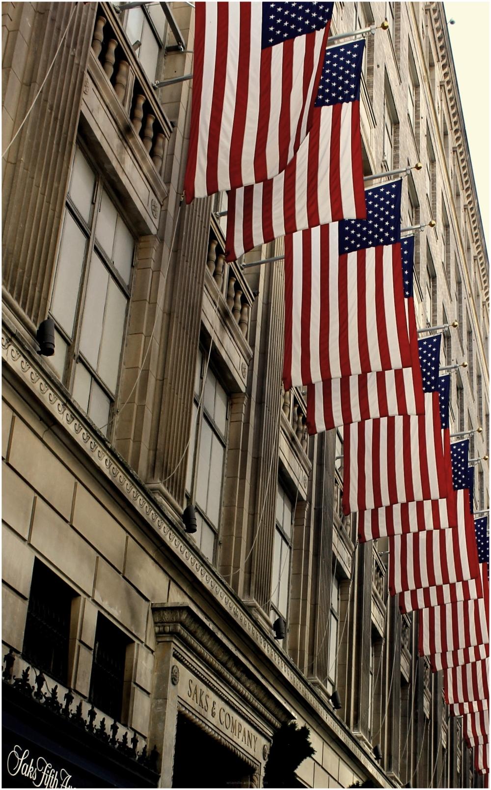 Saks, Fifth Avenue, New York, Retail, Flag, USA, B