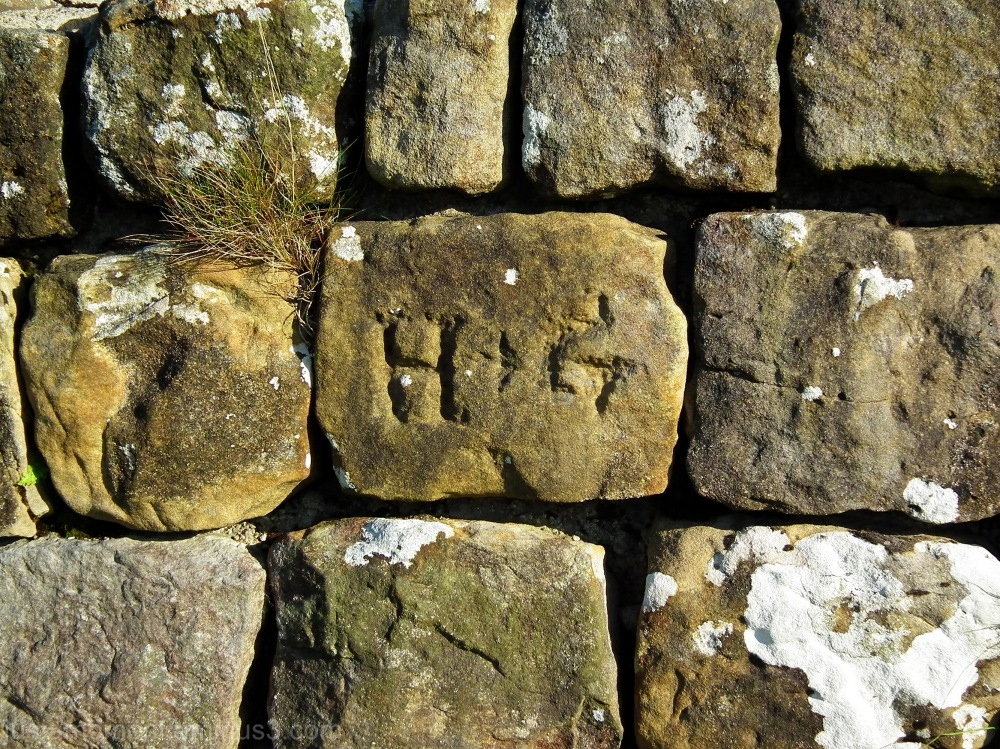 northumberland hadrians wall graffiti