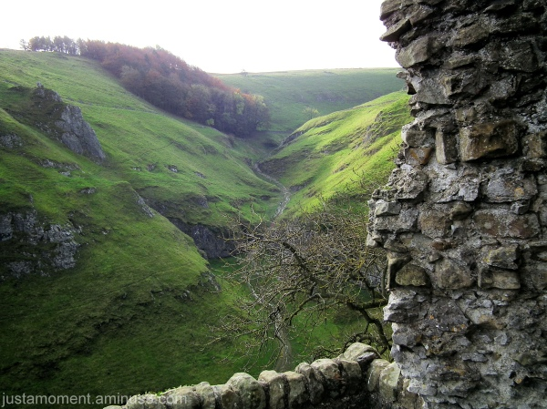 Winding path from Peveril Castle, Derbyshire.