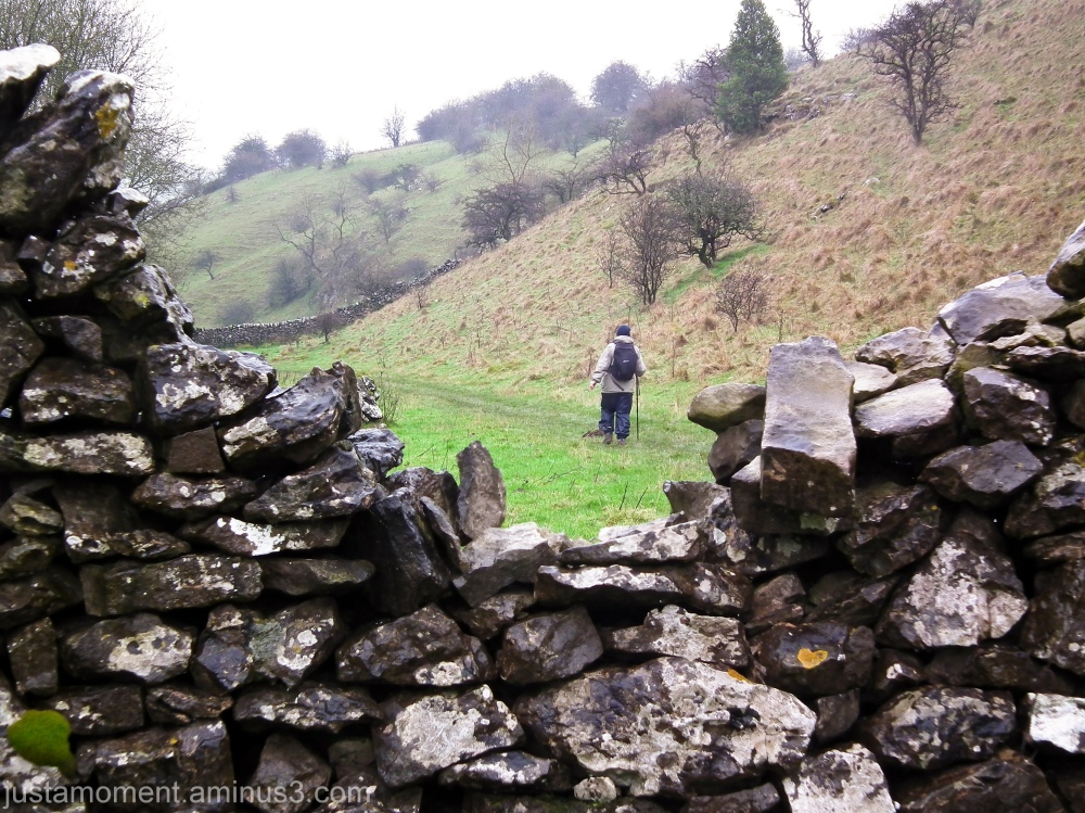 Walking Biggin Dale, Derbyshire.