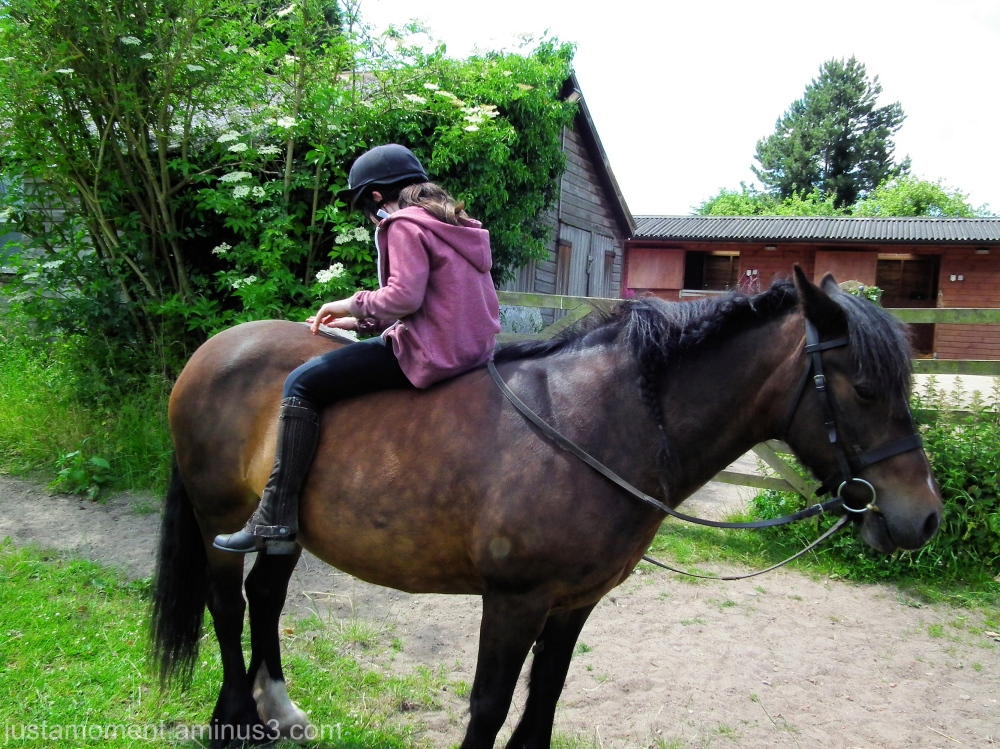 The riding lessons are paying off then.