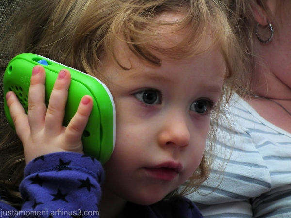 On the phone.