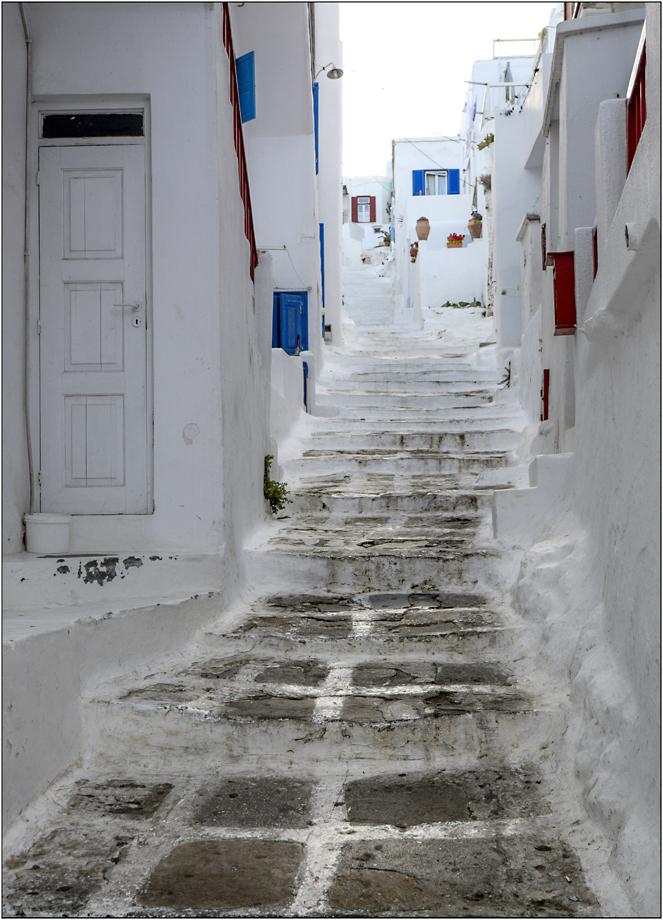 Mikonos bleu blanc rouge...