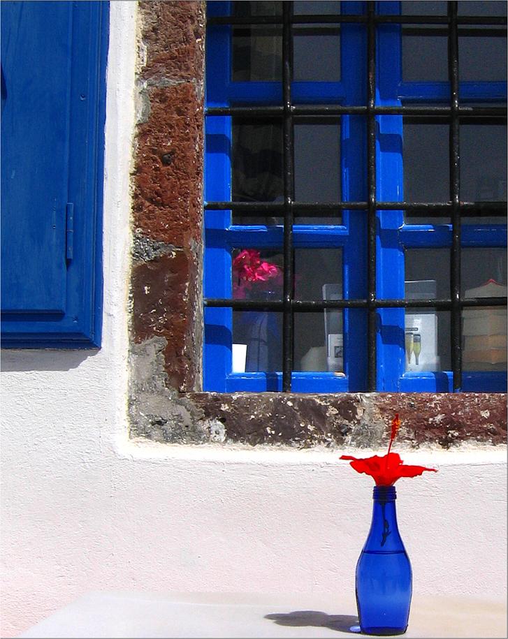 Bouteille bleue