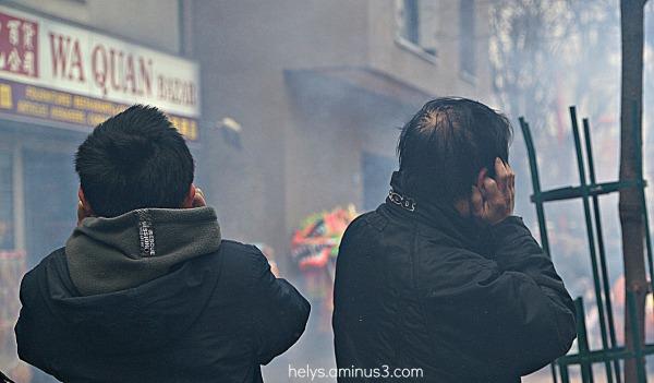 Fête, fumée - bruits