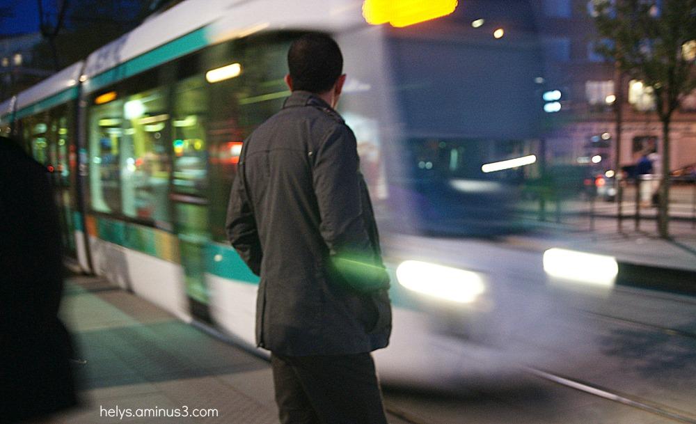 Paris, la nuit: tram