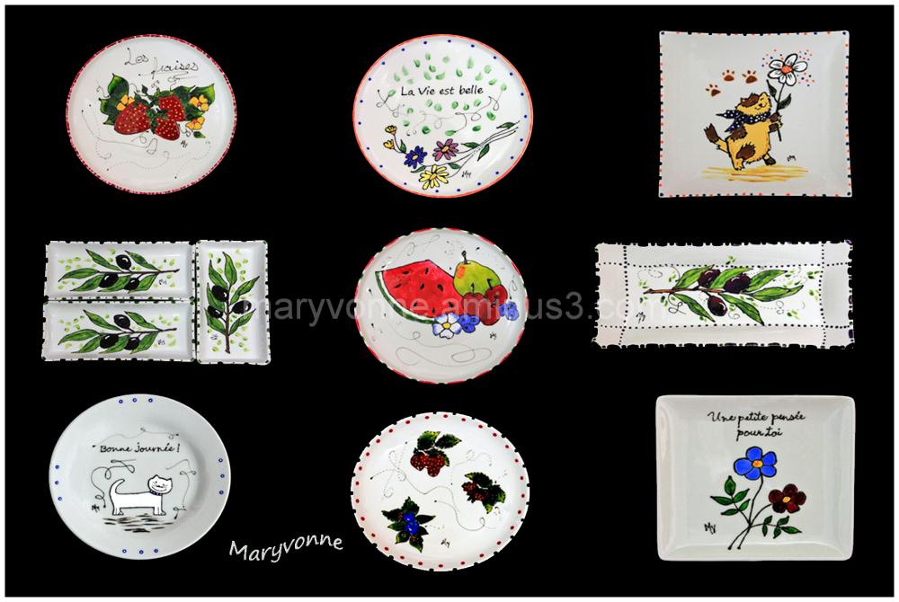 porcelaine création art assiettes