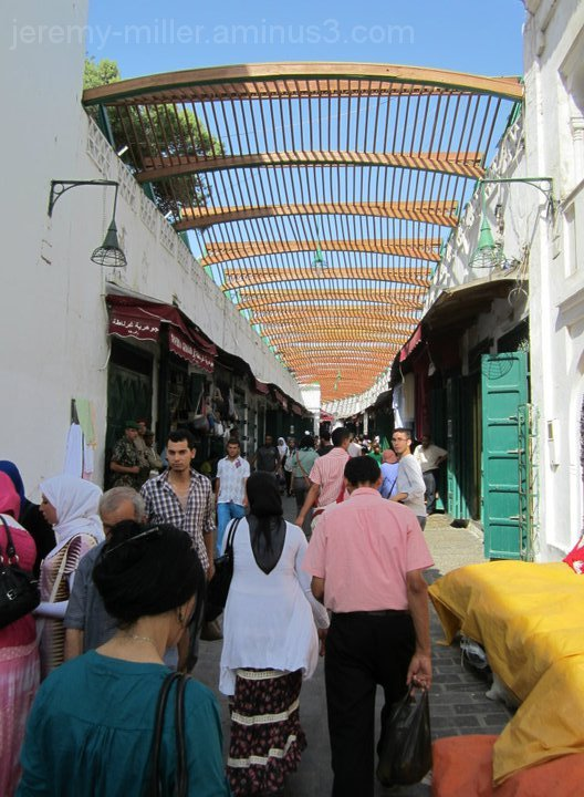 Market street in Tetouan, Morocco