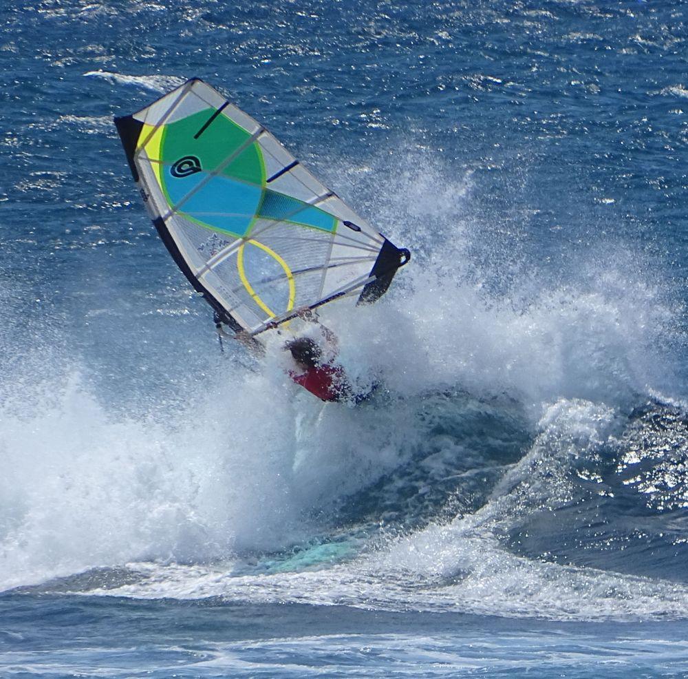 Windsurfer on Maui Hawaii, James Brennan Molokai