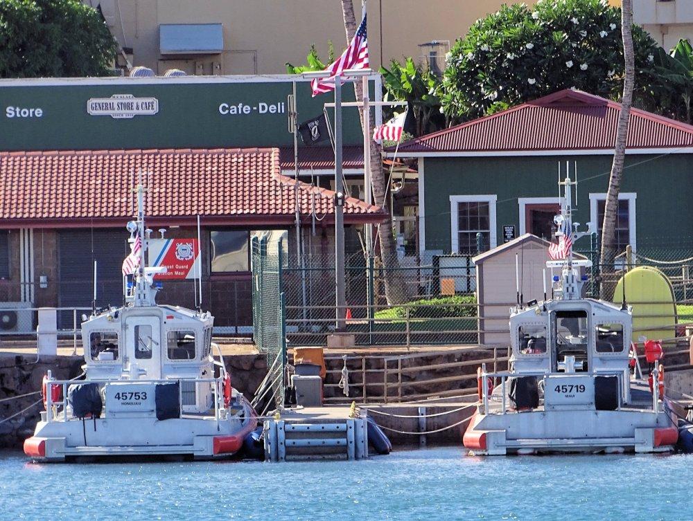 US Coast Guard at Maalaea Harbor, Maui Hawaii