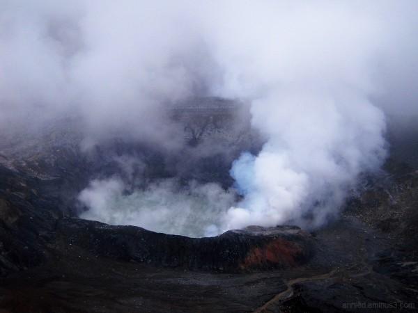 Cratère du volcan Poas (Costa Rica)