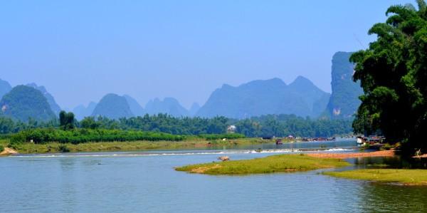Sur la rivière Li à Yangshuo (Chine)