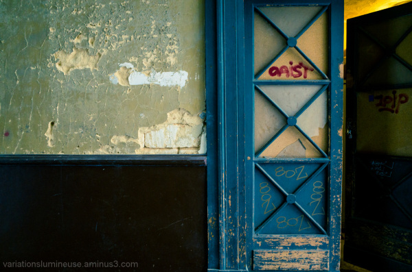 Door and wall decaying.