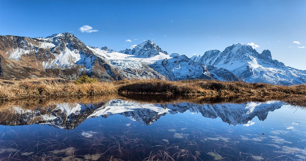 Panorama sur la chaine des Alpes