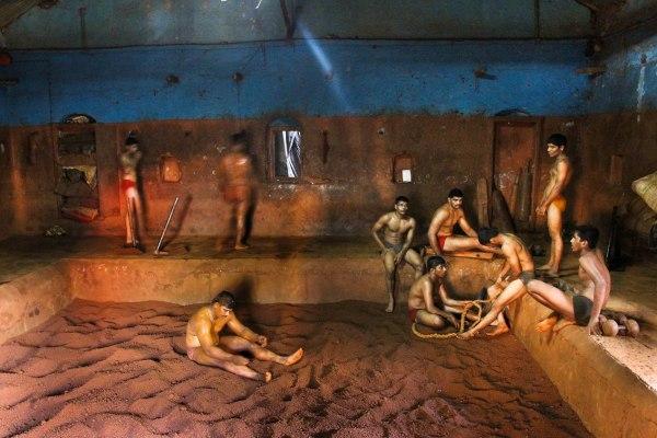 Kushti - wrestling in a soil.
