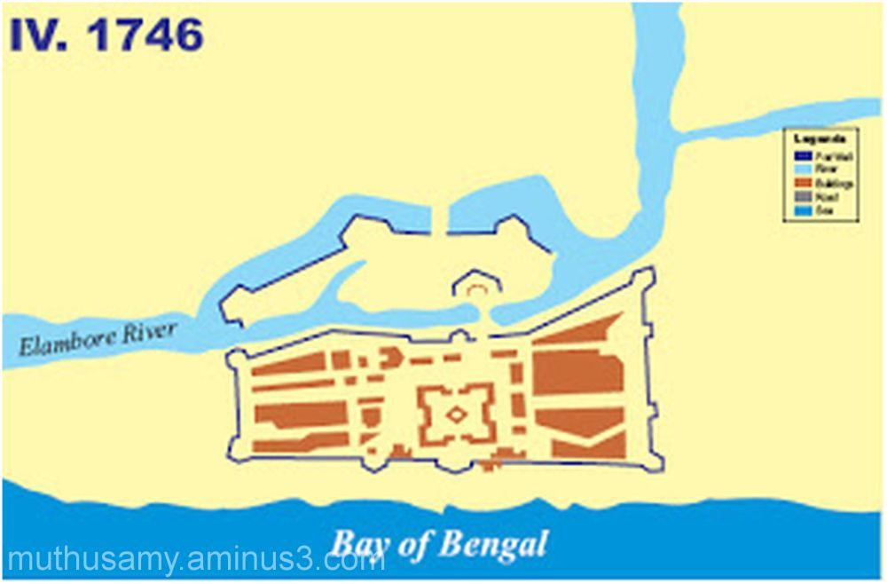 Evolution of Fort St.George 1746 (Col.DM.Reid)