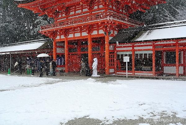 Wedding in snow