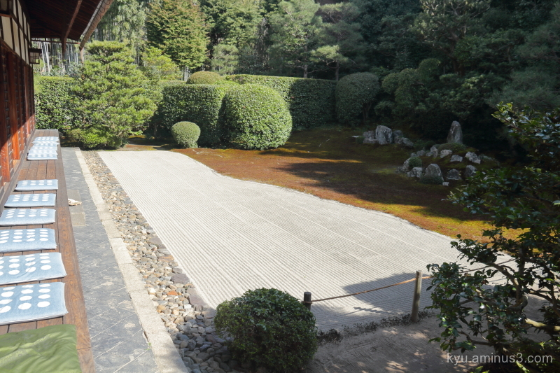 dry-garden Fundain temple Kyoto