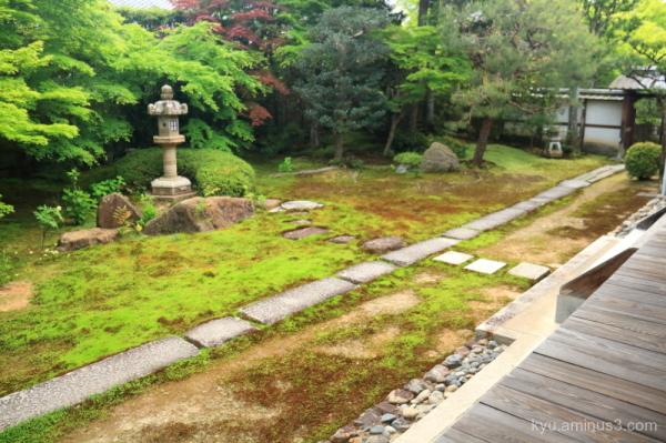garden Rikkokuan temple Kyoto