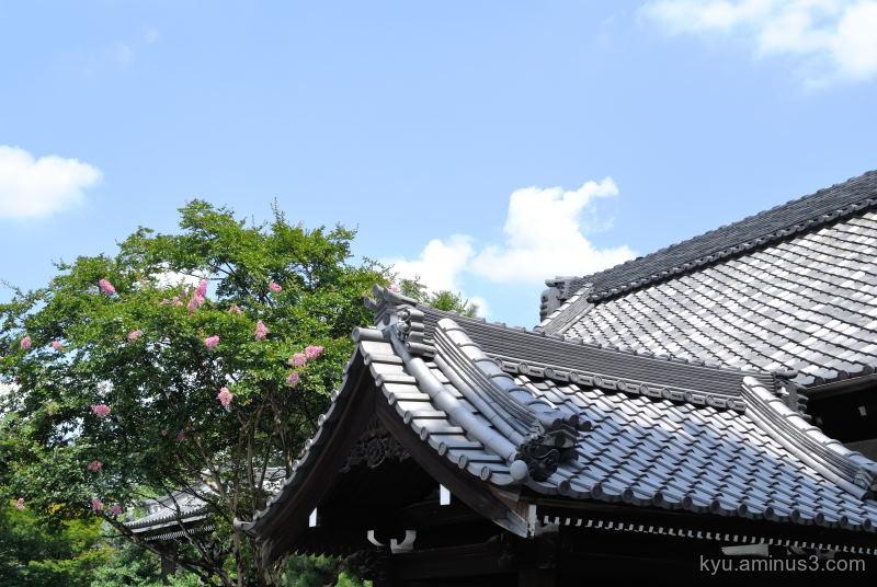summer sky Bukkouji temple Kyoto