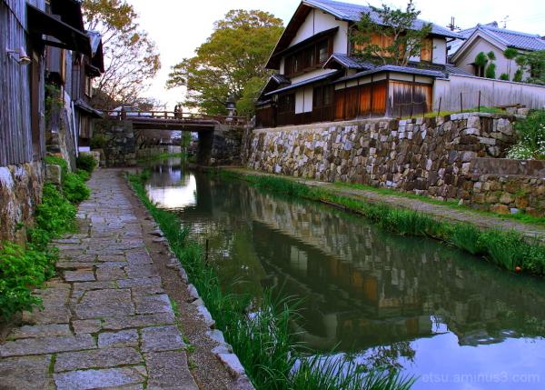 Shall we take a walk on a stone pavement ? 近江八幡