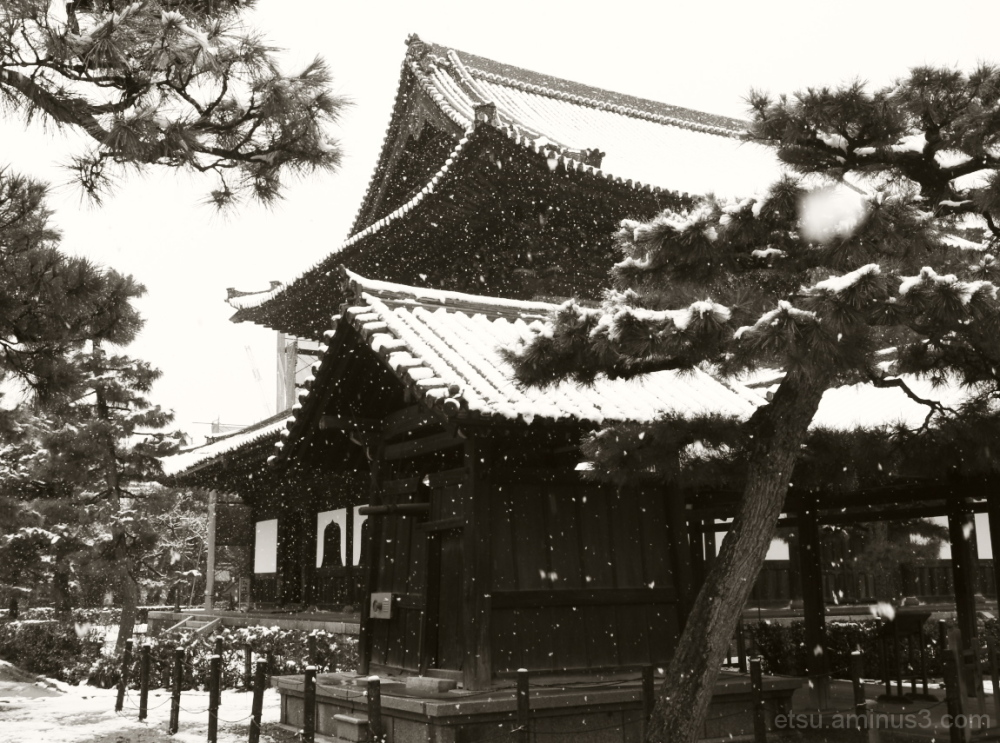A snow scene (at a temple) 建仁寺