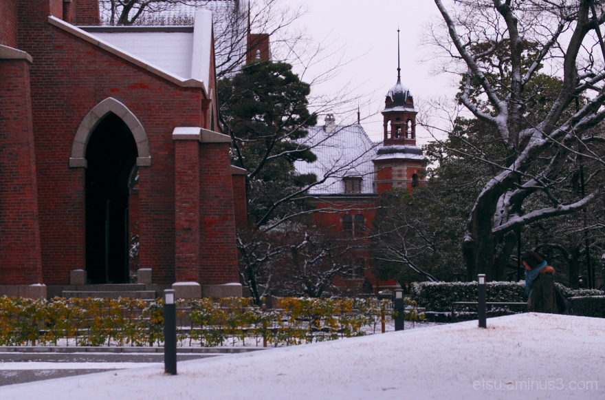 The first snow #3......... 同志社大学