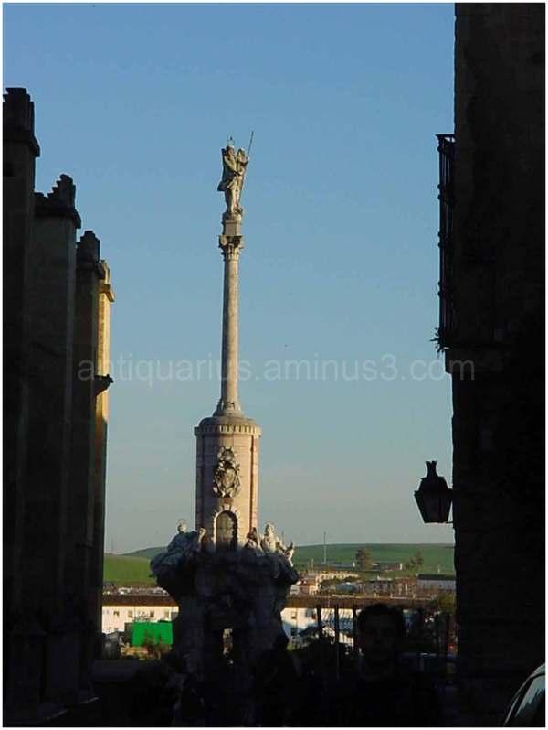 Angel Statue in Cordoba's El Mesquita