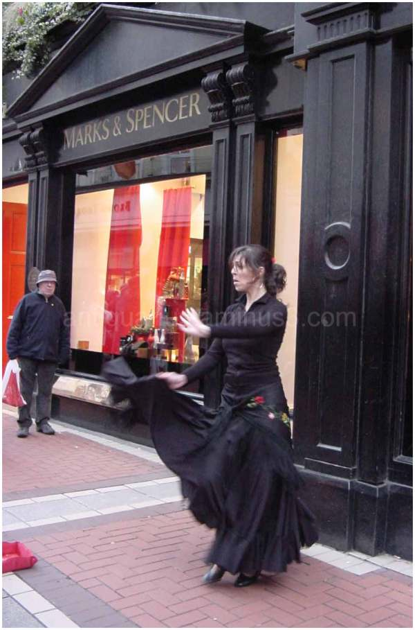 Flamenco Dancer at Marks and Spencer, Dublin