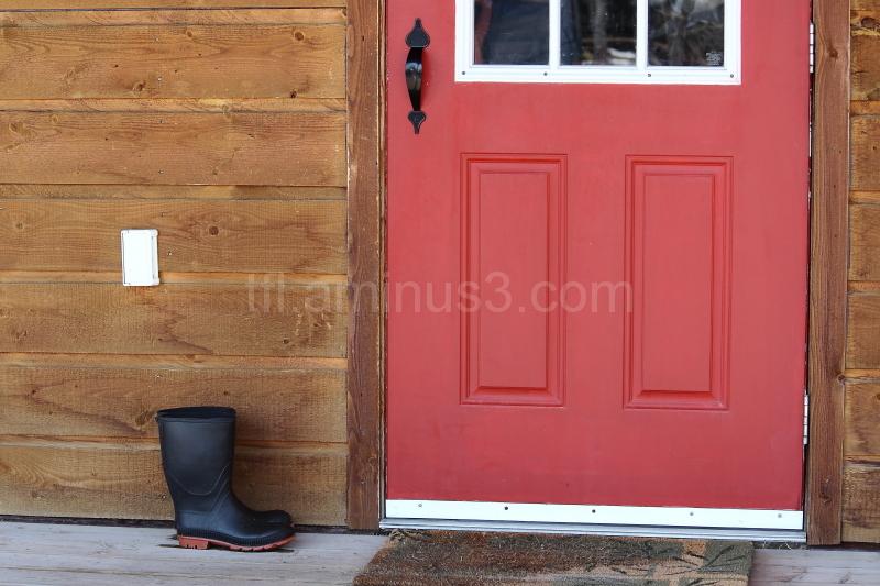 Boots by door