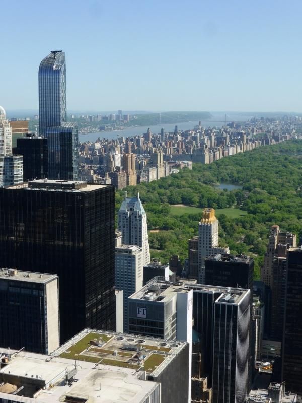 NEW-YORK : Central Park depuis le 70ème étage..