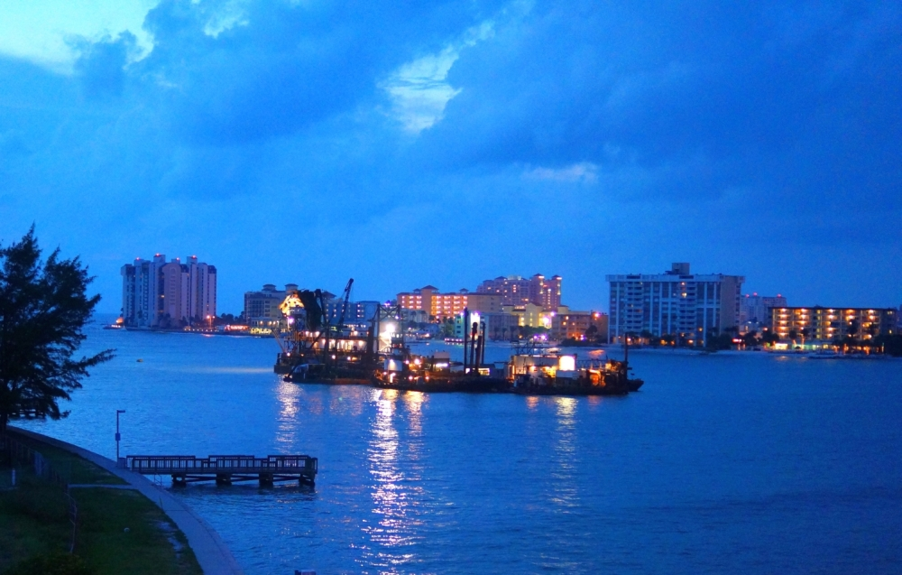 dredging operations off Clearwater Beach