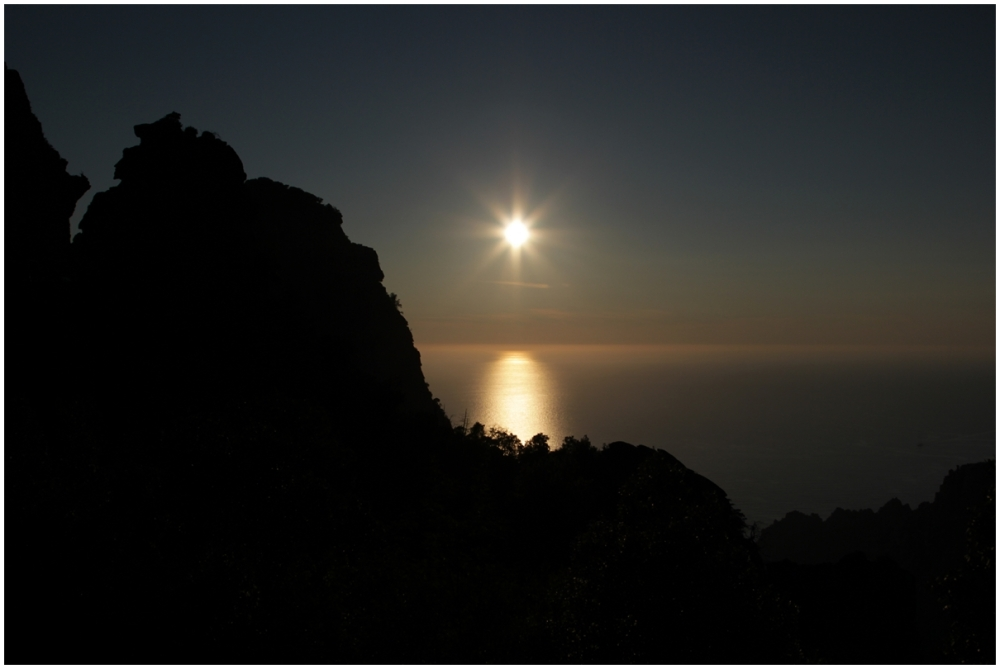 Sunset sur les calanques de Piana