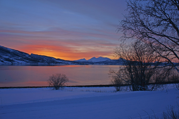 Sunset in Balsfjord