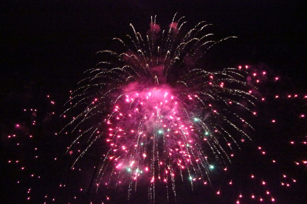 New Years fireworks, Val Torens, January 2014
