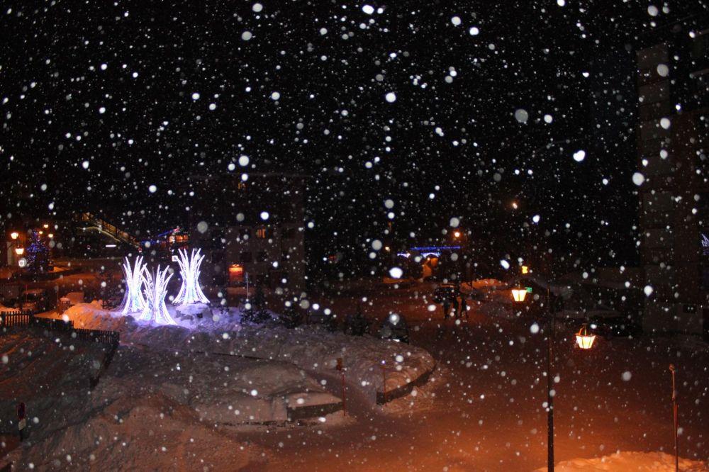 Snowfall in Val Thorens