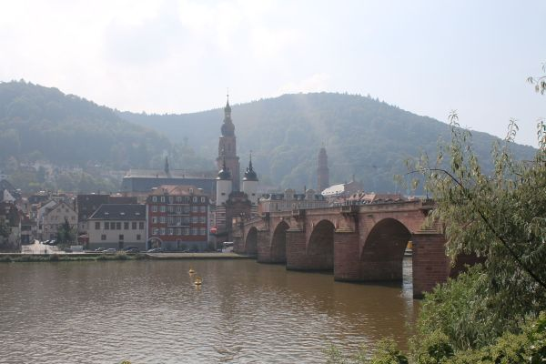 Old Brigde over the Neckar river in Heidelberg
