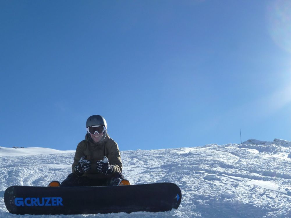 Ready to snowboard
