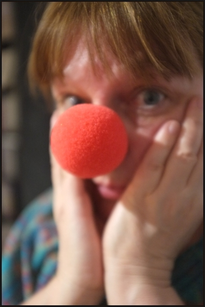 Autoportrait au nez rouge