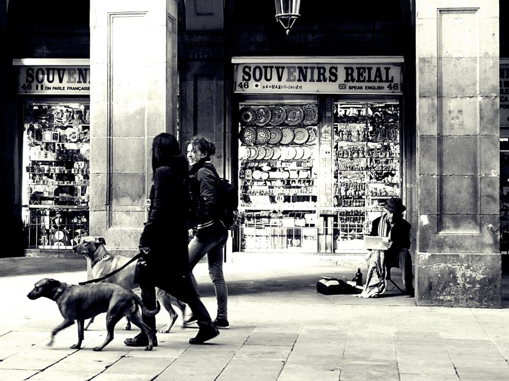Dos gossos i un artista