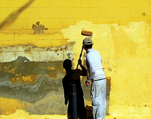 Yellow wall… in process