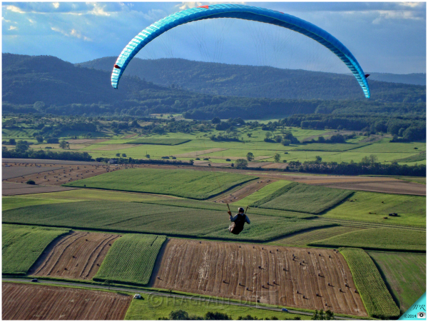 Vol au-dessus du Hanau en Alsace