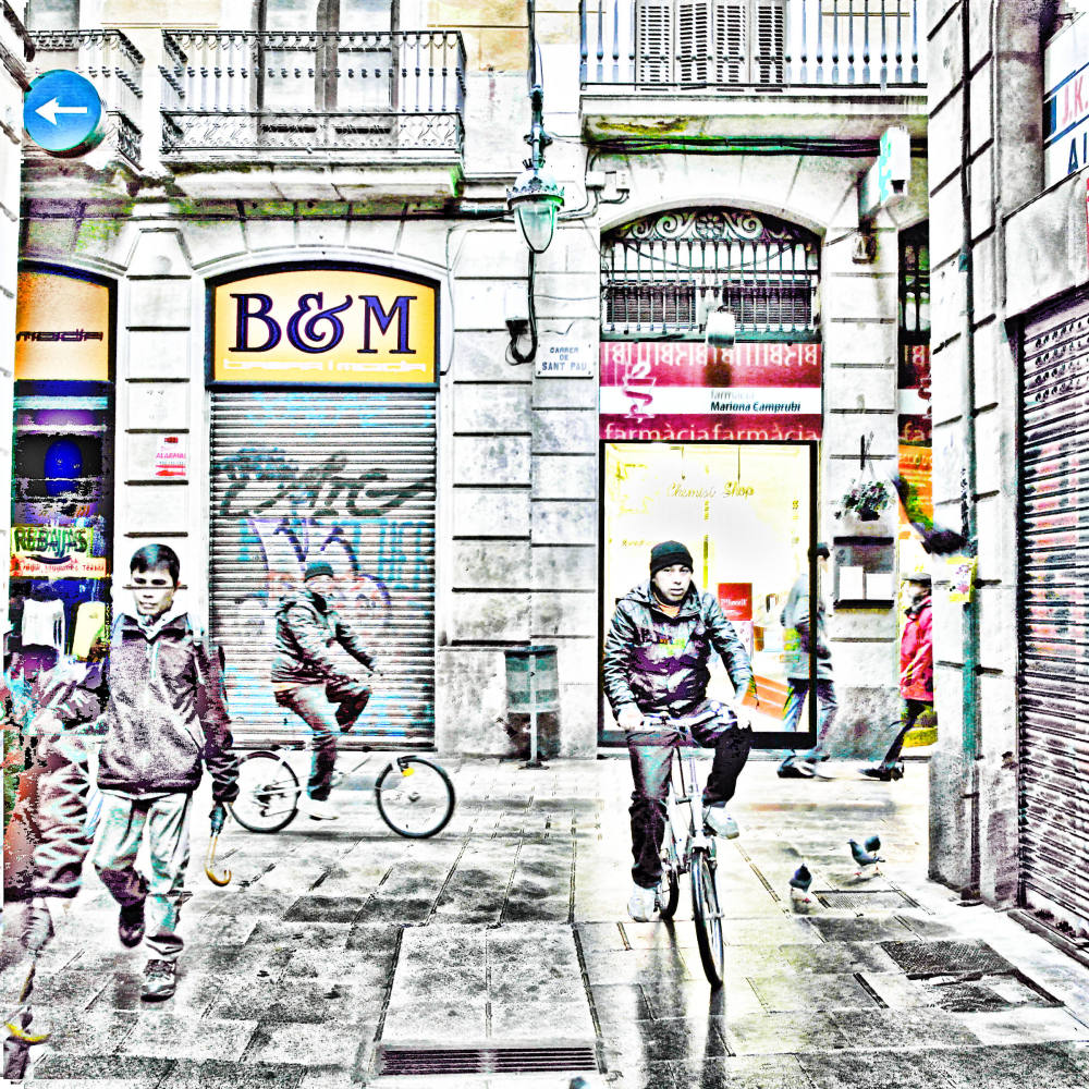 barcelona,digital,street,photography,the gimp