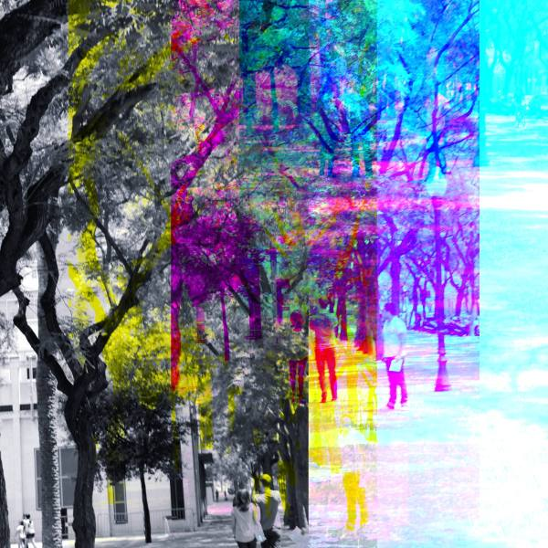 Barcelona street CMYK via The GIMP!