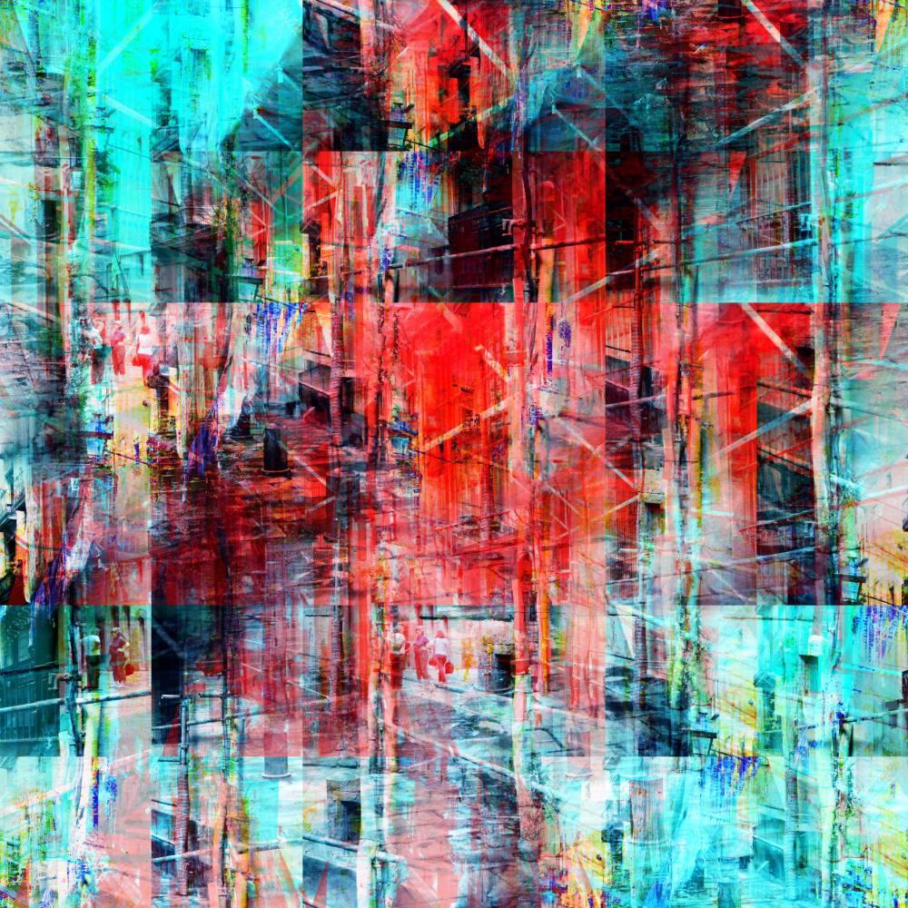 Barcelona street layers sequence avec The GIMP!