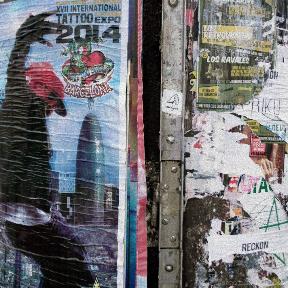 Detail/commercial propaganda, La Rambla/Barcelona.