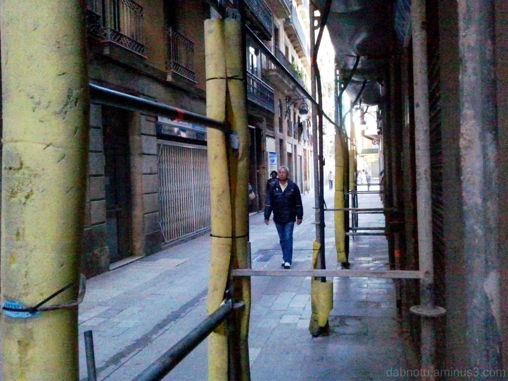 Straight up Barcelona street smartphone photo.