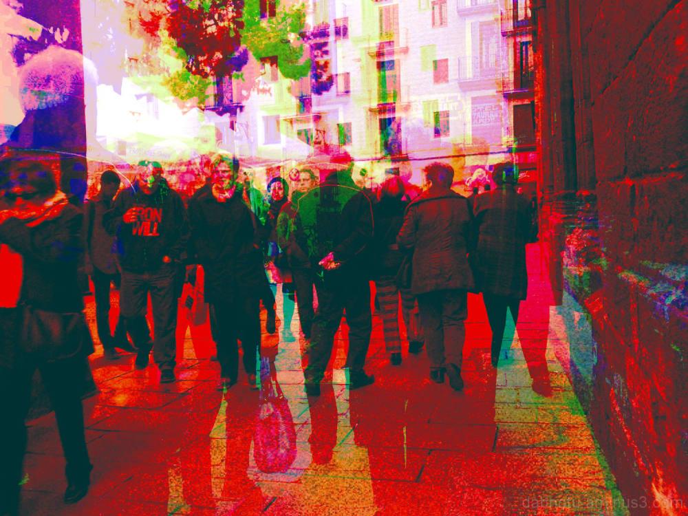 Barcelona street smartphonography, BlackCam+GIMP!